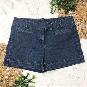 Ann Taylor Dark Denim Shorts